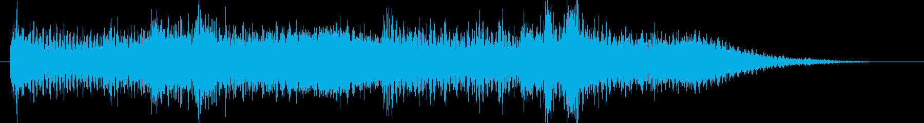 和風サウンドロゴ琴和太鼓のクリック音源の再生済みの波形