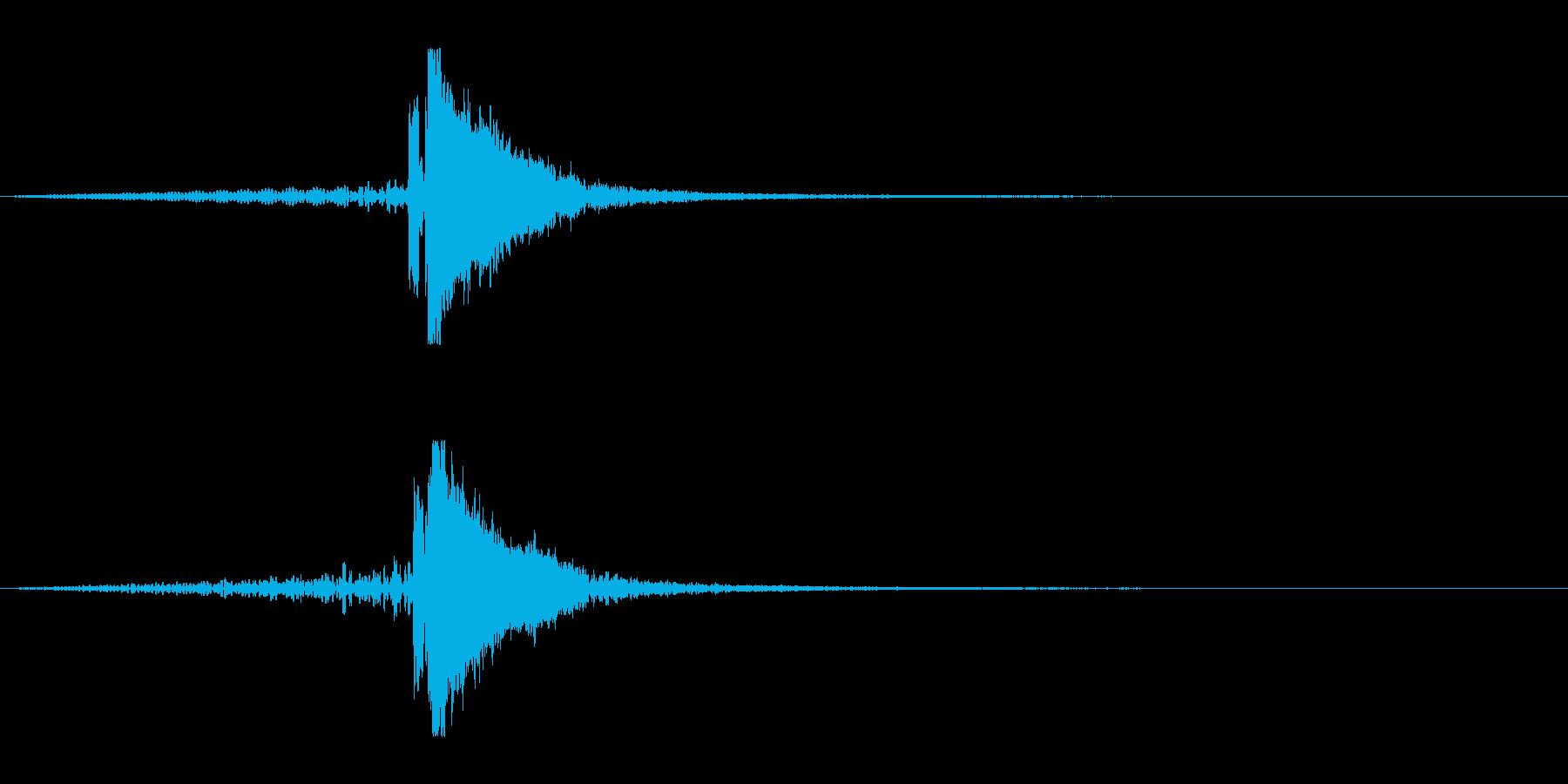 ホラー系アタック音127の再生済みの波形