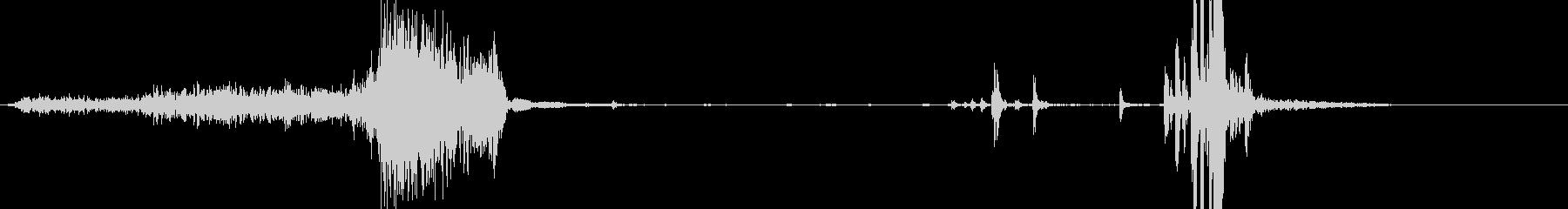 飲料缶の開封音(プシュ、カッ)の未再生の波形