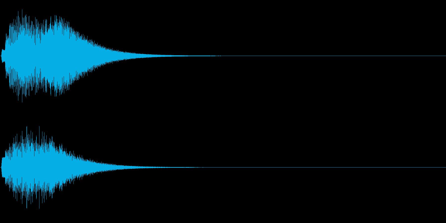 チェレスタ上昇音綺麗なキラキラキラキラ〜の再生済みの波形