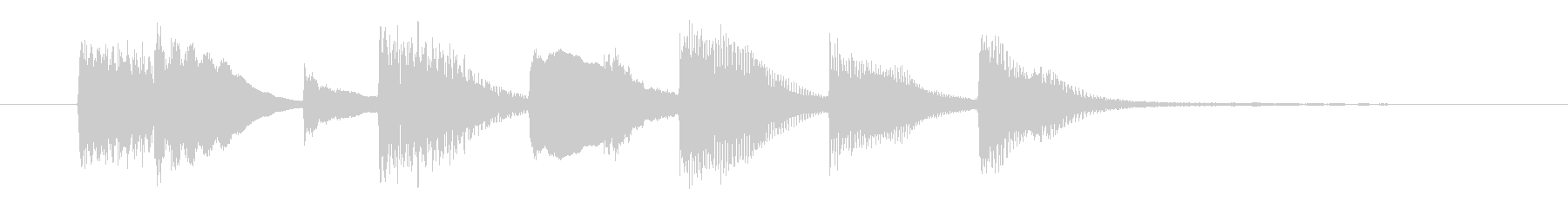 Simple and bright piano jingle's unreproduced waveform