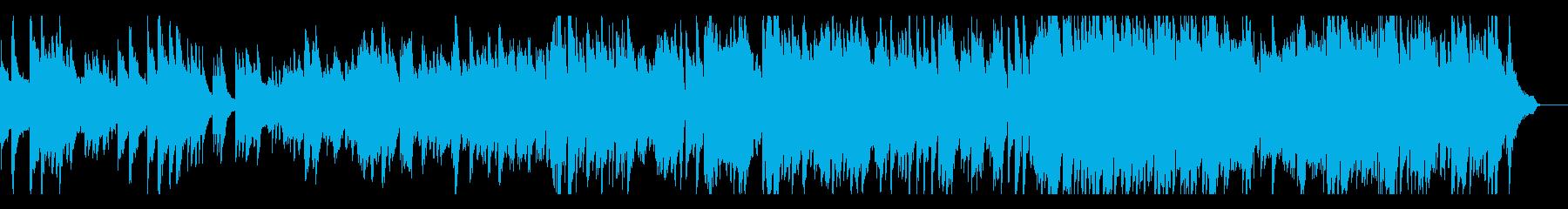 リズミカルな和風曲の再生済みの波形