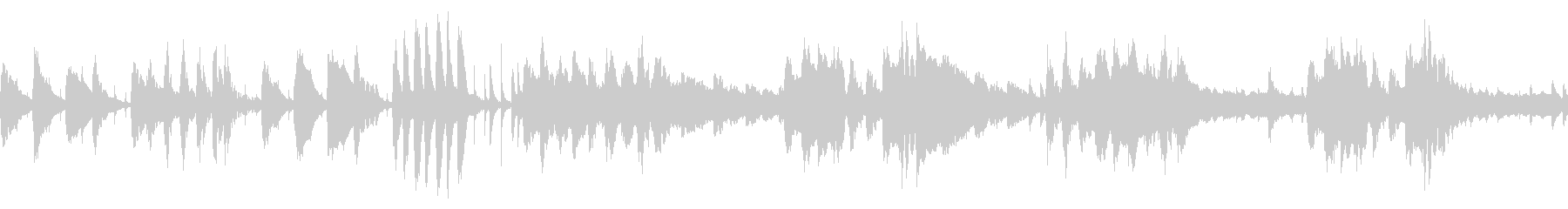 スウィングジャズ風BGM/ループ対応の未再生の波形