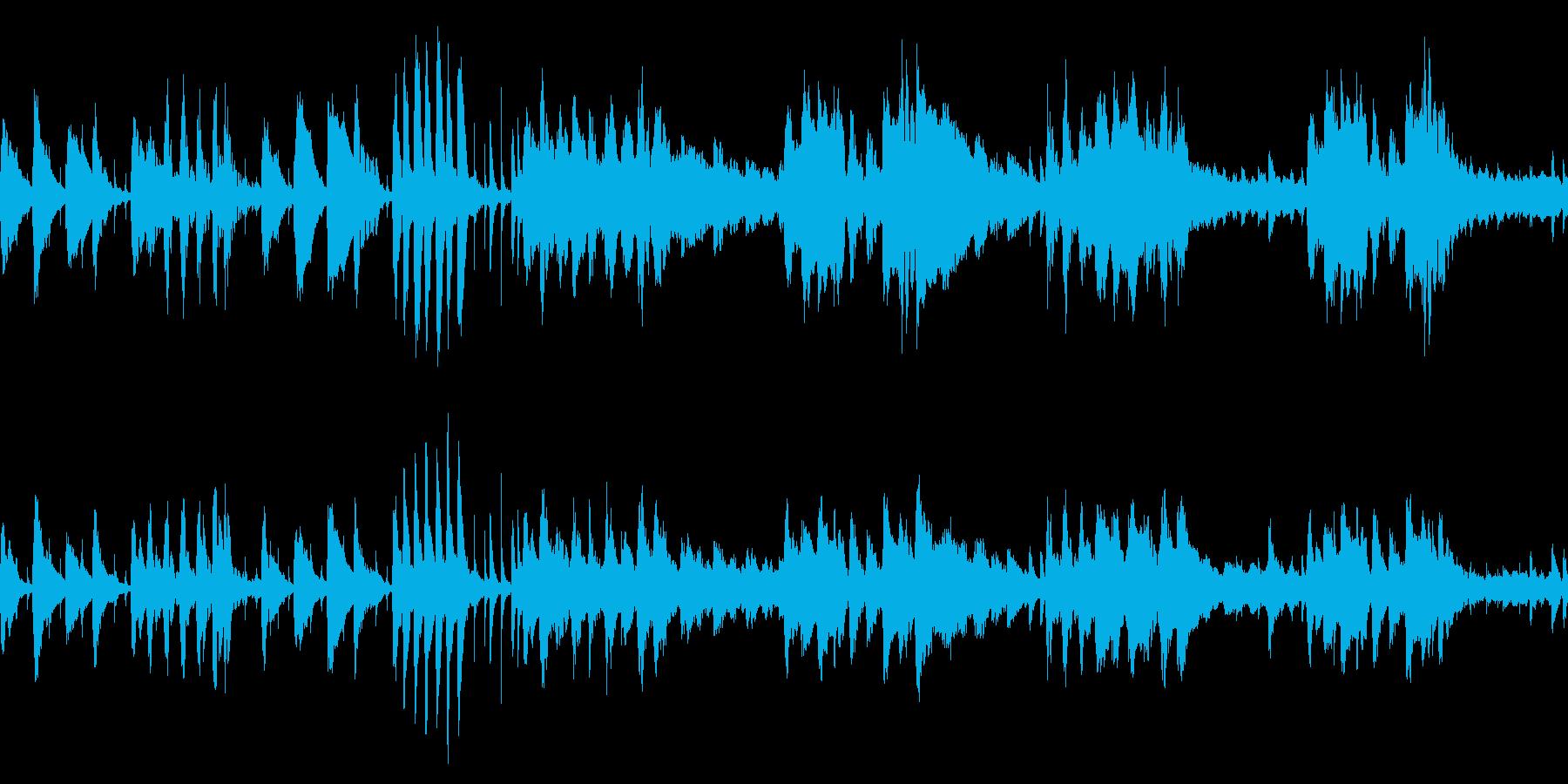 スウィングジャズ風BGM/ループ対応の再生済みの波形