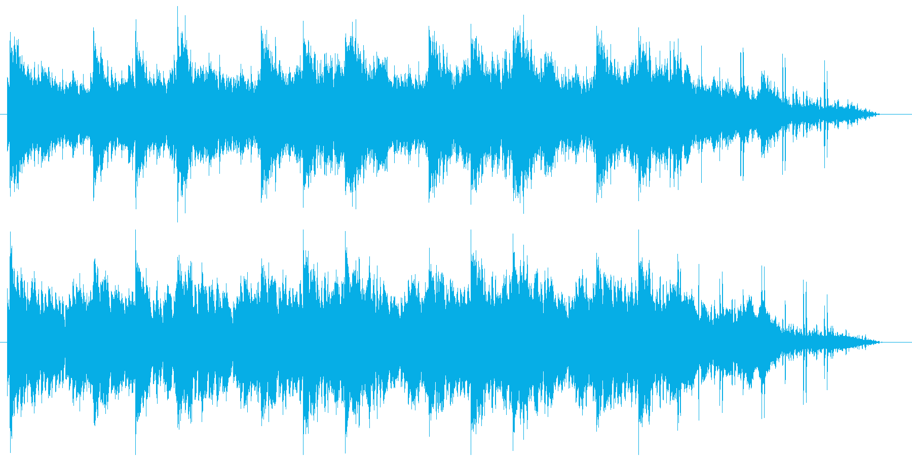 神秘的な洞窟や森をイメージした曲の再生済みの波形