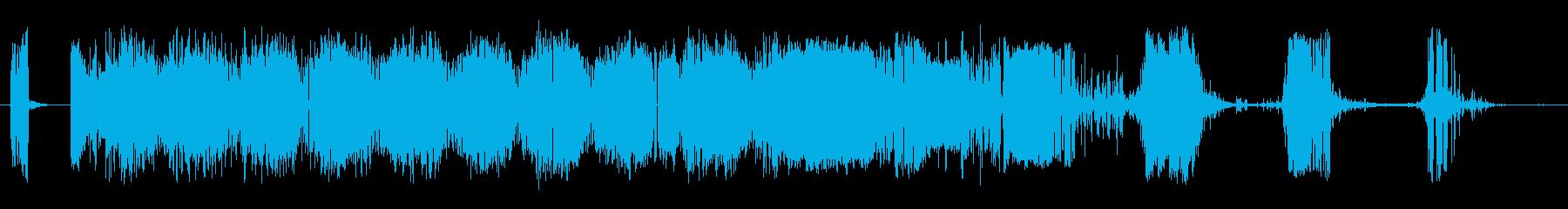 静的干渉跳ね返りスワイプ2の再生済みの波形