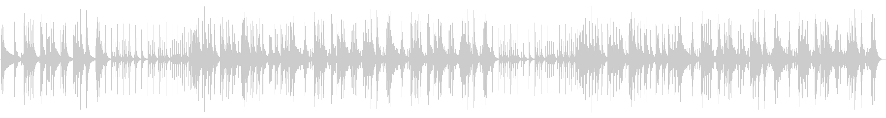 太鼓、チューブラーベル、シンバル、...の未再生の波形