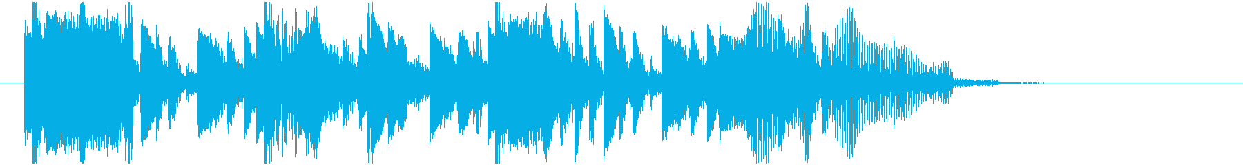 DJ効果音の再生済みの波形