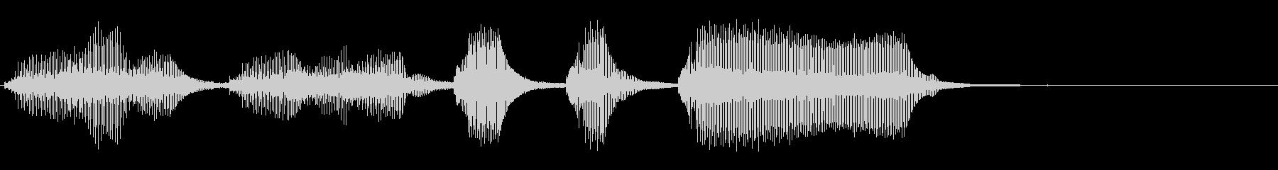 KANTコミカルファンファーレ7087の未再生の波形