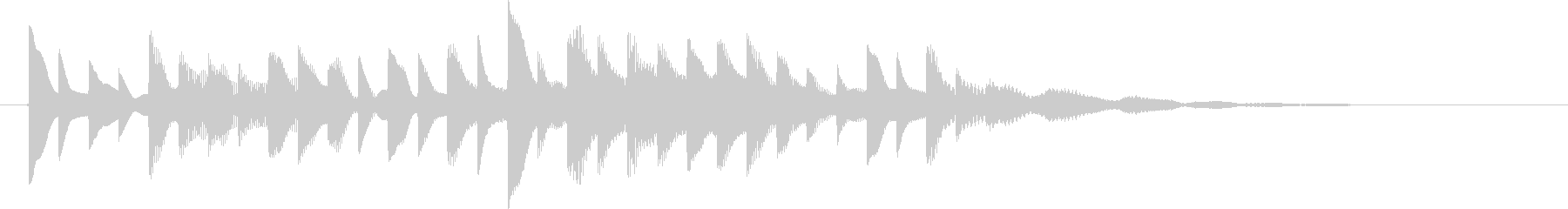 ピコピコ電子音の未再生の波形