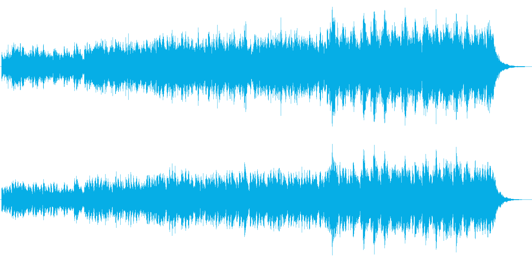 沖縄風シンセのジングルの再生済みの波形