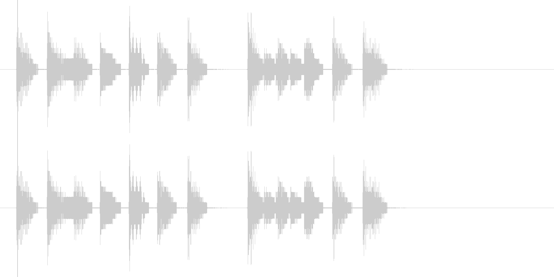 8ビットサウンドのみによる楽曲。振り出…の未再生の波形