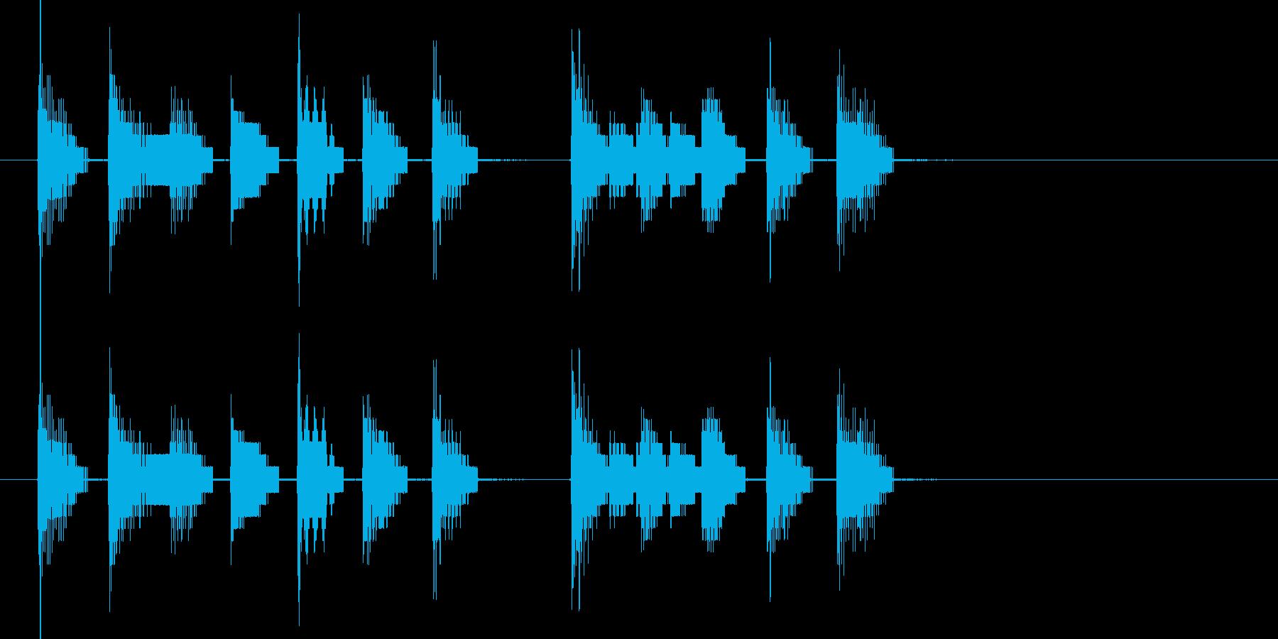 8ビットサウンドのみによる楽曲。振り出…の再生済みの波形