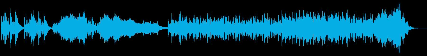 弦楽器とピアノの軽快な室内楽の再生済みの波形