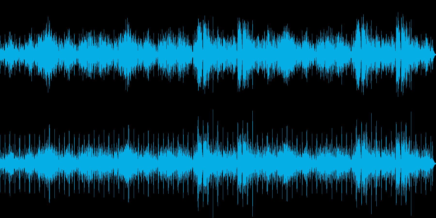 アコーディオンの洒落た雰囲気のワルツの再生済みの波形