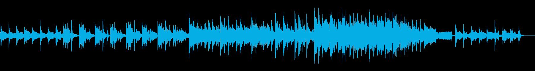 片想いの切なさを表現したピアノバラードの再生済みの波形