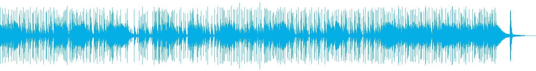 ファンクロックのドラムBGMの再生済みの波形