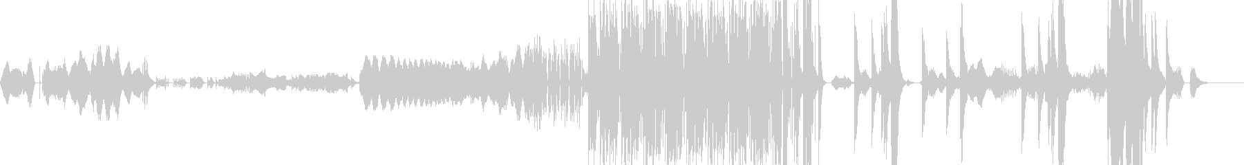 打楽器を中心とした3曲のアンサンブルの未再生の波形