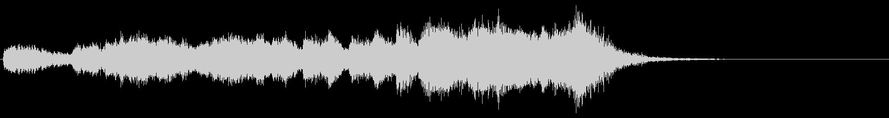 ドラムロール付き開幕のファンファーレの未再生の波形