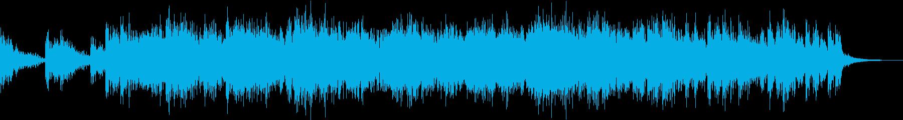 緊迫感あふれるリズムと音質の再生済みの波形