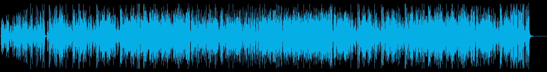 エレキギターメインのフュージョンの再生済みの波形