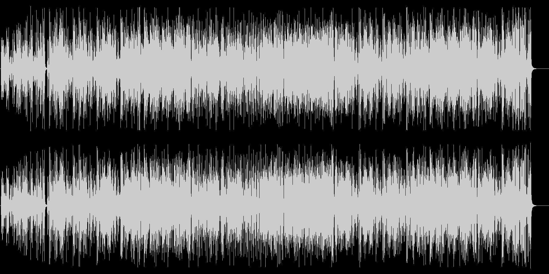 エレキギターメインのフュージョンの未再生の波形