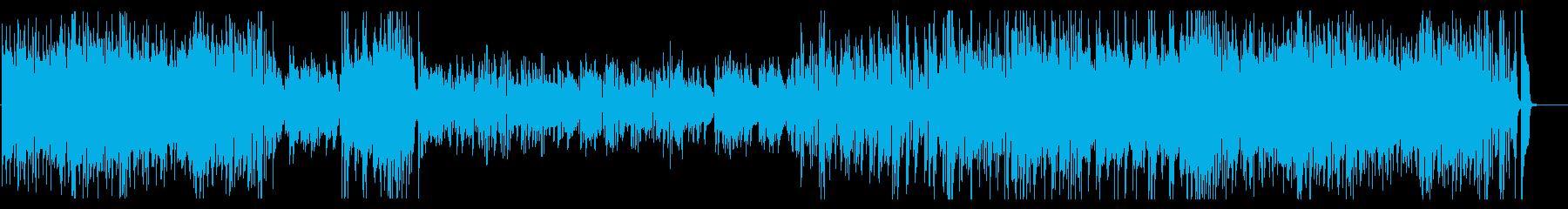 モダンなピアノトリオ シリアスな雰囲気の再生済みの波形