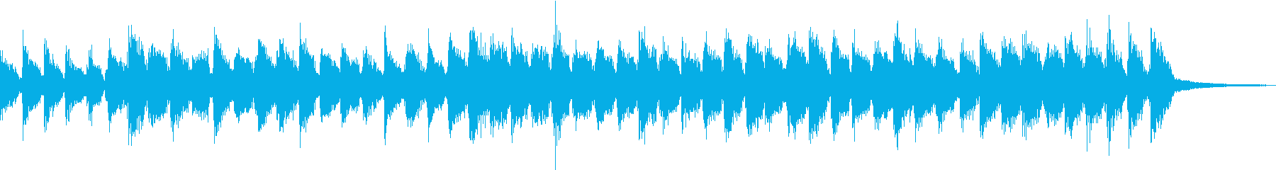 ポップなギターの掛け合いの再生済みの波形