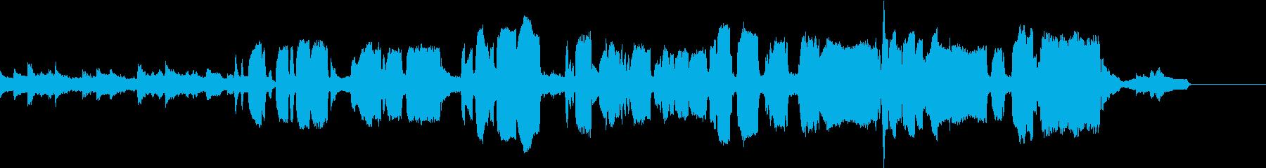 二本のフルートによる癒しのナンバーの再生済みの波形