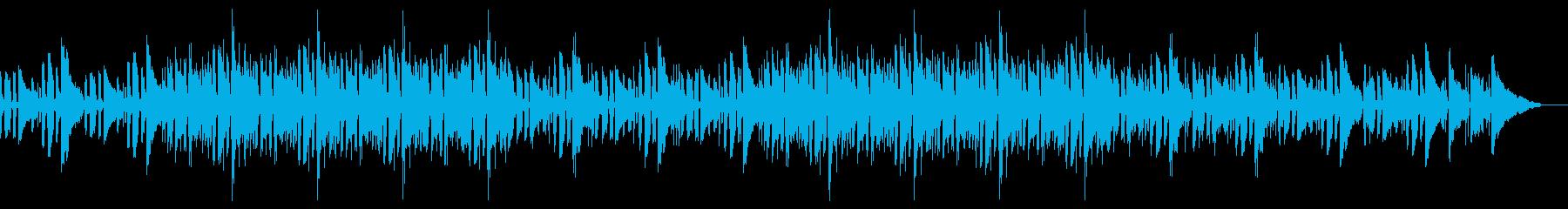 ギターがメインの落ち着いた楽曲の再生済みの波形