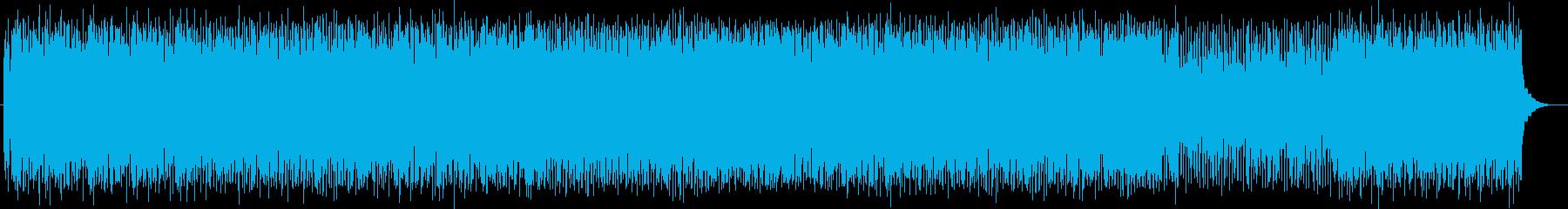 疾走感のあるポップなシンセの曲の再生済みの波形