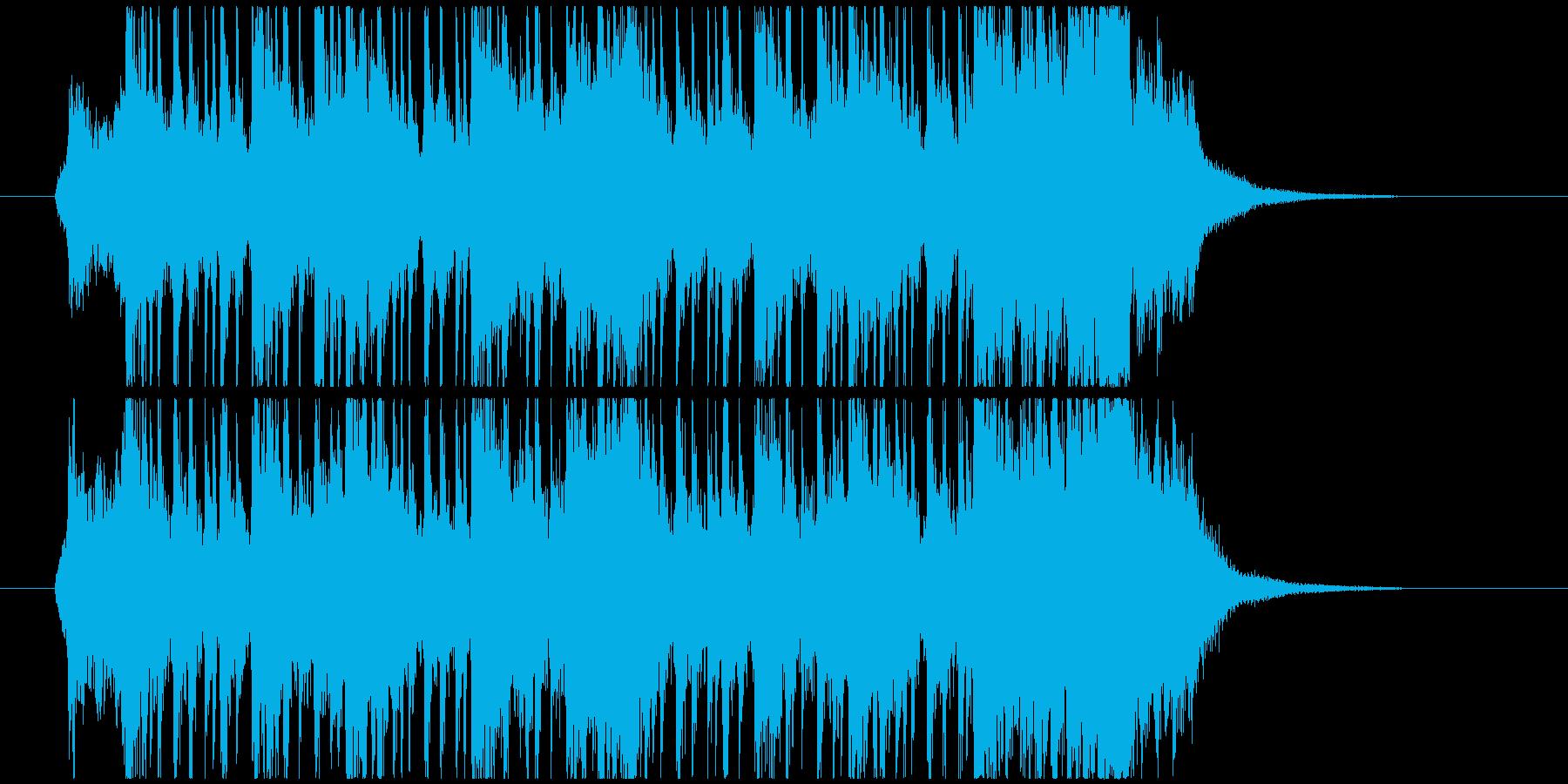 太鼓や掛け声が本格的な和風ジングルの再生済みの波形