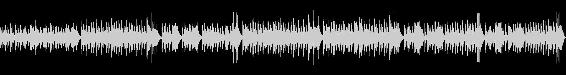 マリンバを使ったコミカルなループ楽曲の未再生の波形
