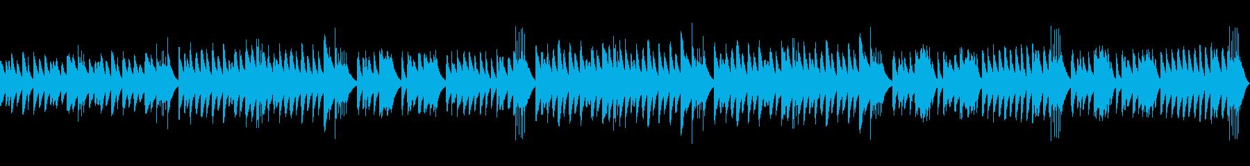 マリンバを使ったコミカルなループ楽曲の再生済みの波形