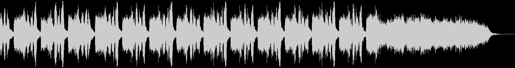 オーケストラによる暗所探索系BGMの未再生の波形