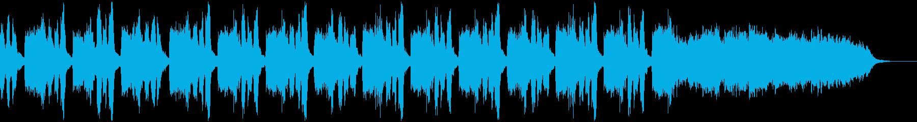 オーケストラによる暗所探索系BGMの再生済みの波形