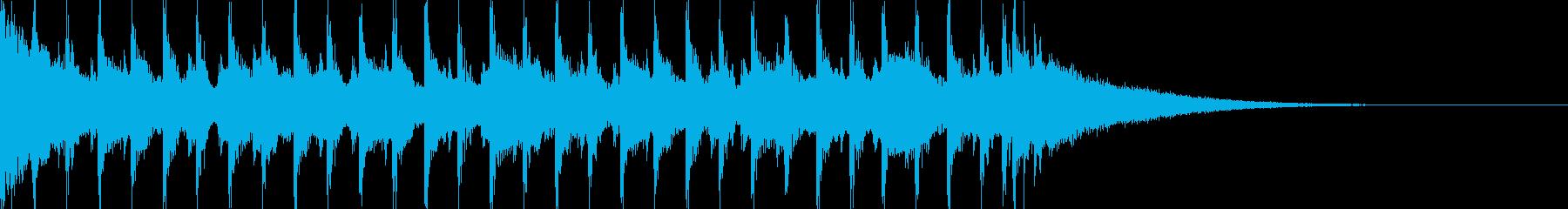 15秒CM可愛いウクレレ/口笛/ノリノリの再生済みの波形
