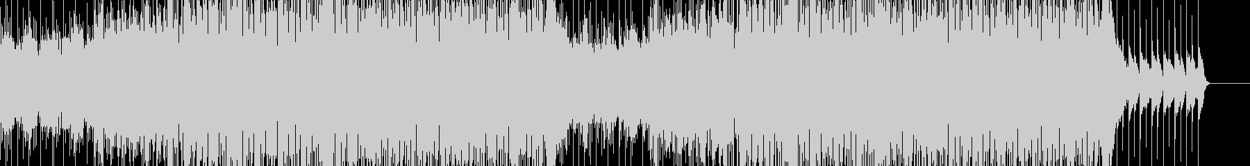 攻撃的なシンセとブレイクビーツの未再生の波形
