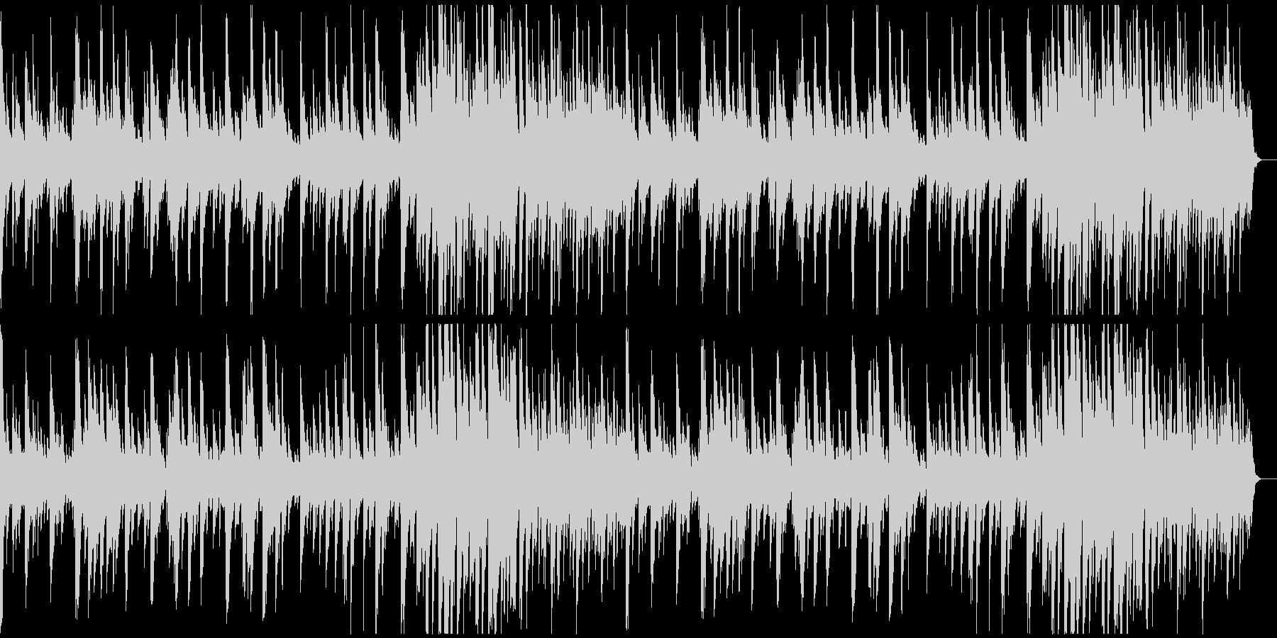 キラキラした感じのソロ・ピアノ曲の未再生の波形