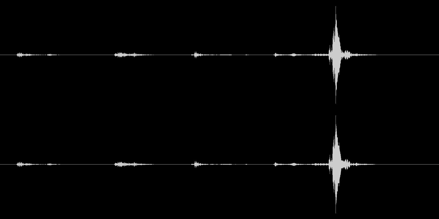 電気ジューサー2:粉砕機:挿入の未再生の波形