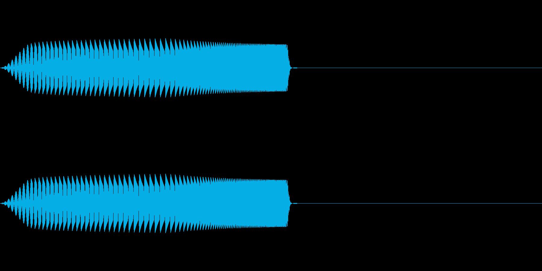 クリック、ボタン、ファンシーな足音2の再生済みの波形