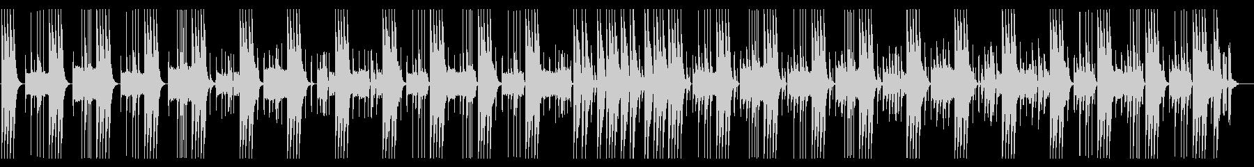 とぼけた、コミカルな雰囲気の日常系BGMの未再生の波形