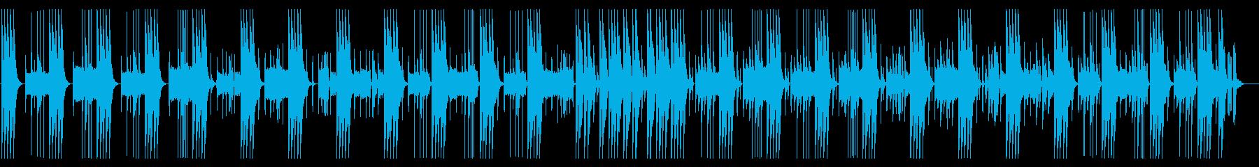 とぼけた、コミカルな雰囲気の日常系BGMの再生済みの波形