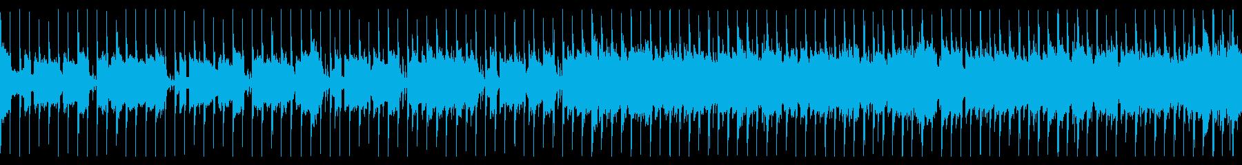 軽快で爽やかなハウスミュージックの再生済みの波形