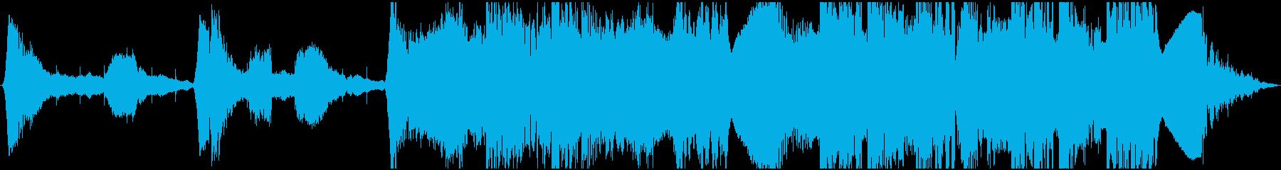 ホラー映画のイントロトレーラーの再生済みの波形