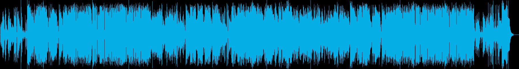 サックスメインのジャズフュージョンの再生済みの波形
