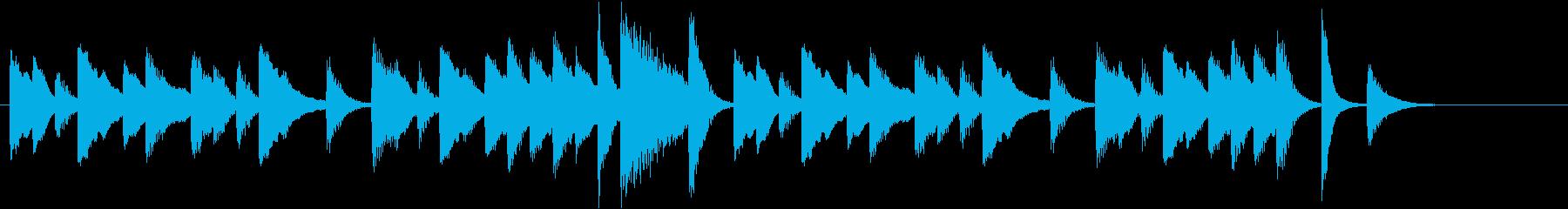 クッキング動画に♪ぽかぽかピアノジングルの再生済みの波形
