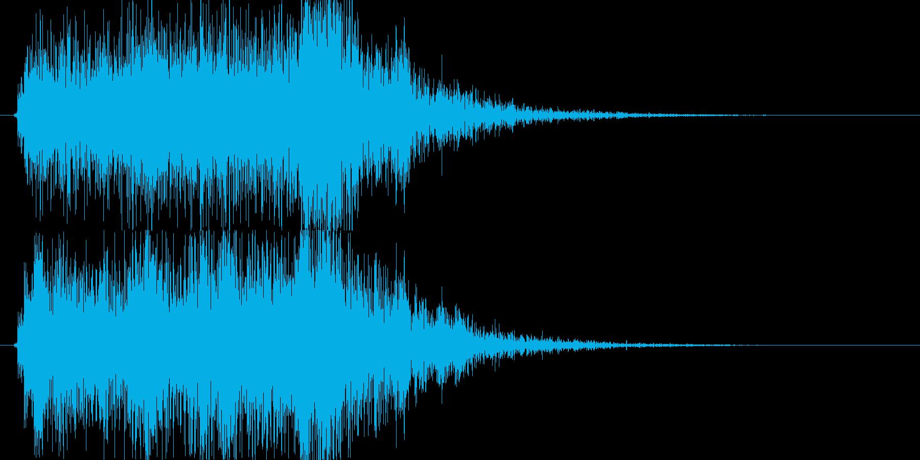 【ジングル】レベルアップ アプリ向けの再生済みの波形