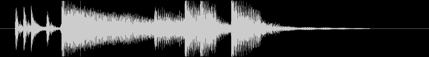ポップなバンドサウンドのジングルの未再生の波形
