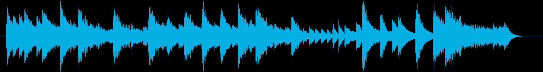 童謡・紅葉モチーフのピアノジングルCの再生済みの波形
